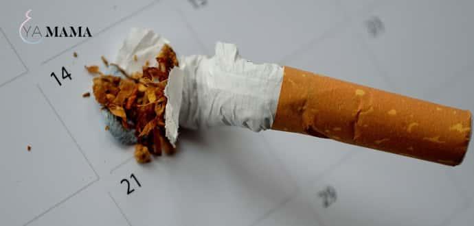 Сигарета и календарь